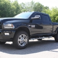15 Ram 2500 - Rainguards - Front Window Tint - Westin Side Steps - Painted Fender Flares and Chrome Aftermarket Wheels
