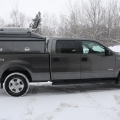2013 F150 - DCC Commercial Cap with Prime Design Ladder Rack
