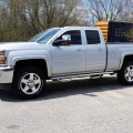 15 Chev 2500 - Painted fender flares, n-fab side step, painted rainguards and tinted windows
